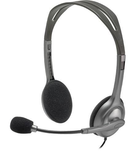 Logitech Klinke H111 Stereo black