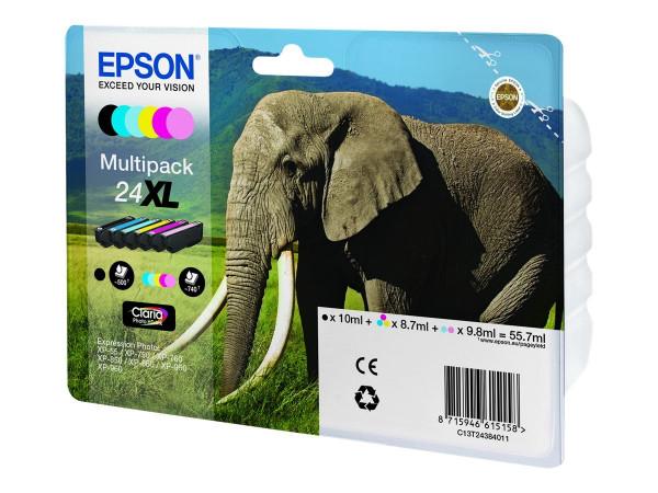 Epson Tinte 24XL Multipack 4er-Tinte (BK/C/M/Y)