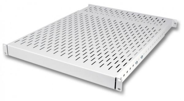 Fachboden 1HE, tiefenverstellbar von 350-600mm Tragl. 150kg