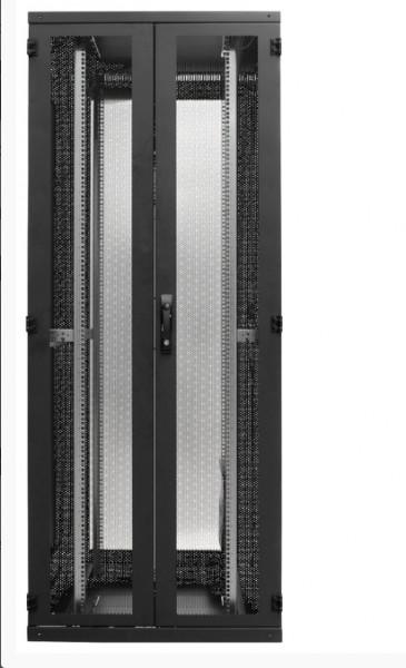 Serverschrank 26HE, RAL9005 1270x600x1000, perforierte Tür