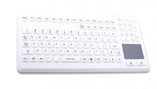 Tastatur Gett TKG-104-TOUCH-IP68-GREY-USB-DE