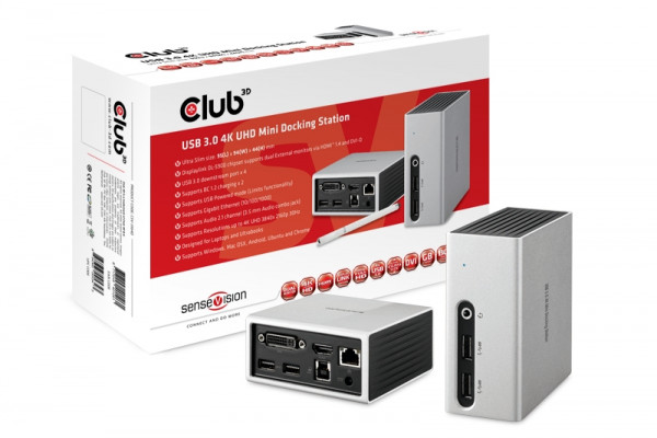 Club 3D USB 3.1 Gen.1 4K Mini Docking Station