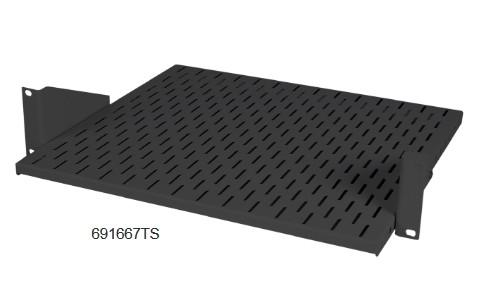 Fachboden 2HE RAL9005 Belastung max 25 kg 400mm tief