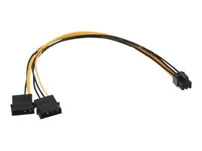 Netzteil Adapter 2x 4-pol. Molex -> 6-pol. VGA