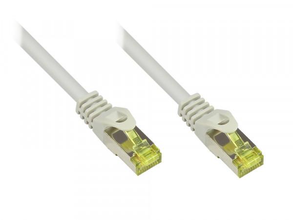 Patchkabel 10,0m mit Cat7 Rohkabel RJ45 S/FTP PIMF grau