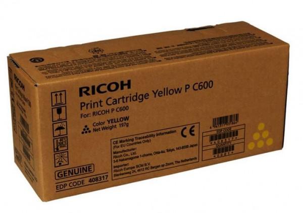 Ricoh Print Cartridge Yellow PC600 für ca.12.000 Seiten nach ISO/IEC 19752