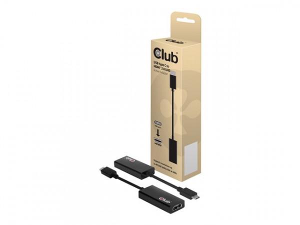 Club 3D Externer Videoadapter USB 3.1 Gen.2 Typ C auf HDMI 2.0 UHD