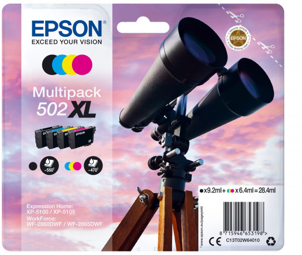 Epson 502XL Multipack 4er-Tinte (BK/C/M/Y)