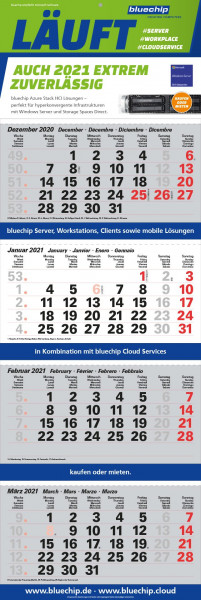 bluechip 4-Monatskalender 2021