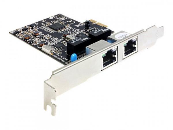 DeLock Dual-Port PCIe x1 -2x Gigabit Netzwerkadapter (FH/LP) RTL8111