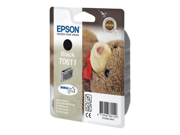 Epson T0611 Tinte Schwarz - 8 ml