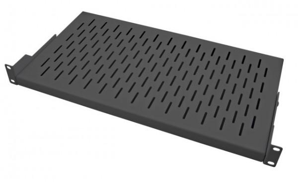 Fachboden 1HE, RAL9005 tiefenverstellbar, T250mm