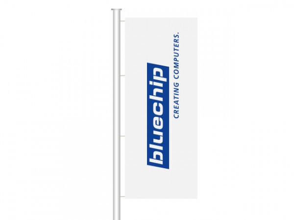 bluechip Fahne für Masten ohne Ausleger 1,2 m x 3,5 m