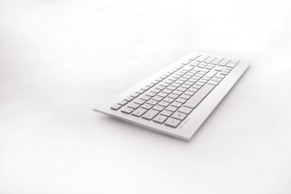 CHERRY STRAIT 3.0 Corded Keyboard JK-0350ES ES weiß/silber