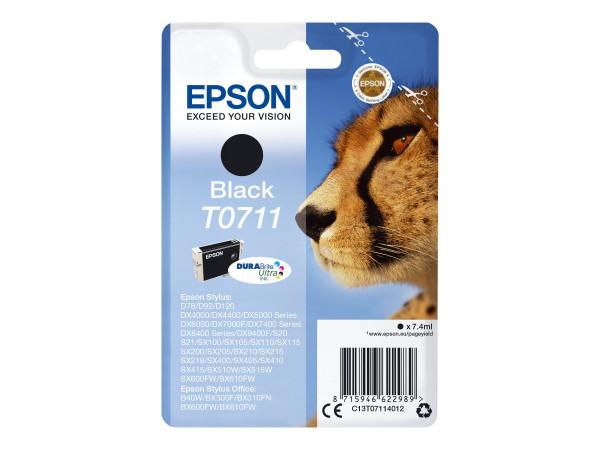 Epson T0711 Tinte Schwarz 7,4 ml