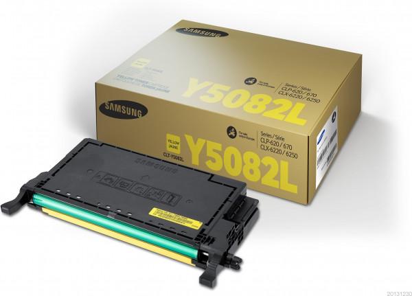 Samsung CLT-Y5082L Toner yellow 4.000 Seiten