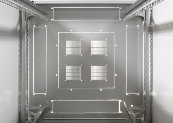 Netzwerkschrank-PRO 33HE, H1563 x B800 x T800, RAL 7035