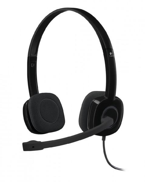 Logitech Klinke H151 Stereo black