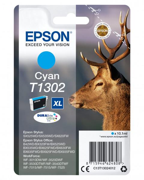 Dru v Epson T1302XL Tinte Cyan
