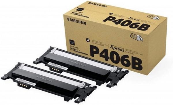 Samsung CLT-P406B/ELS - Twin Pack schwarz 1.500 Seiten