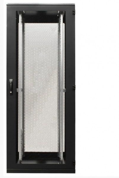 Serverschrank 42HE, RAL9005 2000x600x1000, Lochbl. Rücktür