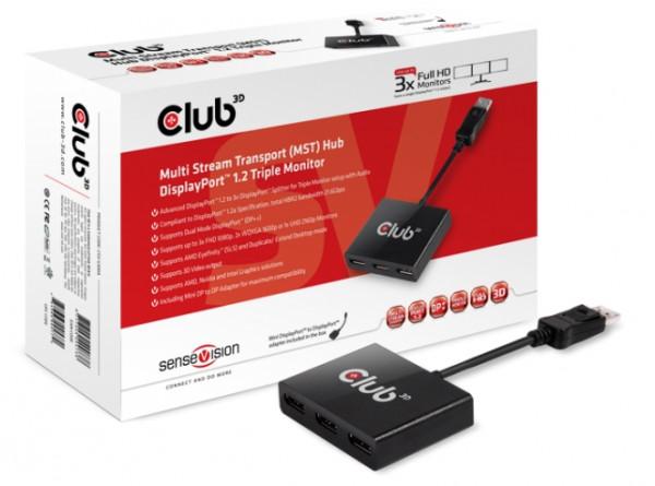 Club 3D Multi Stream Transport (MST) Hub DisplayPort 1.2 1-3