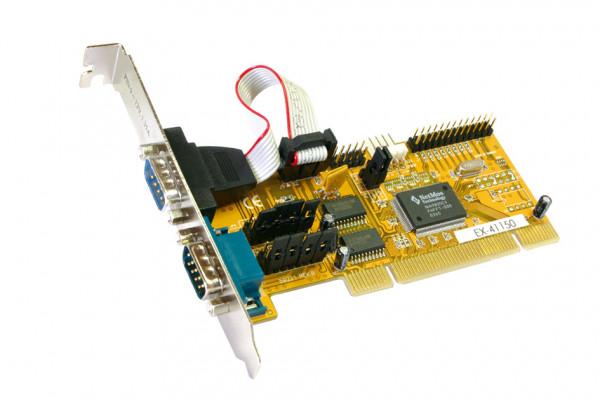 Multi I/O Card EX-41150 2*RS-232 / 1*Parallel über Slotblech