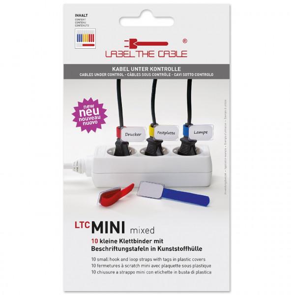 Label-the-cable Mini 2530 Haltegurt mix 10er Set (blau,rot,gelb)