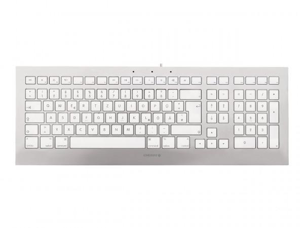 CHERRY STRAIT 3.0 FOR MAC Corded Keyboard JK-0370DE DE weiß/silber