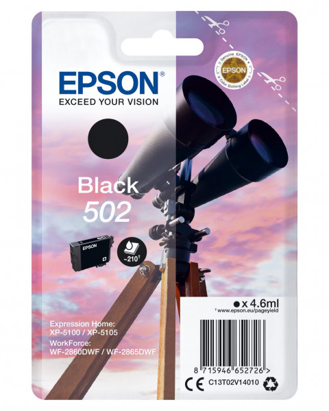 Epson 502 Schwarz 4.6 ml