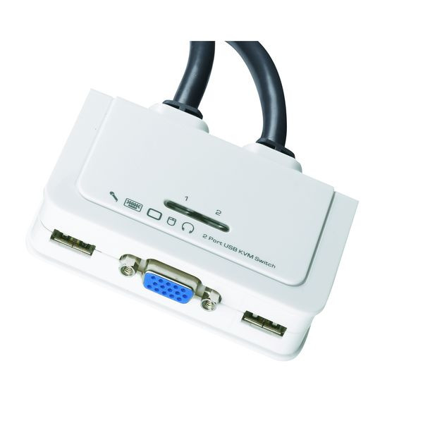 Data Switch KVM 2-Port VGA, USB, Audio