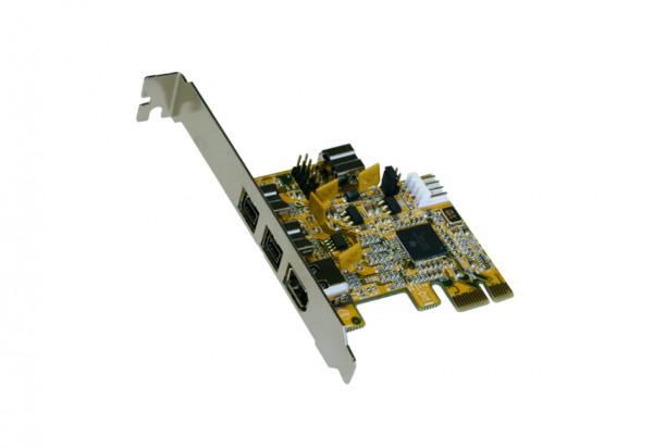 FireWire IEEE 1394ab PCIe x1 Karte 3+1