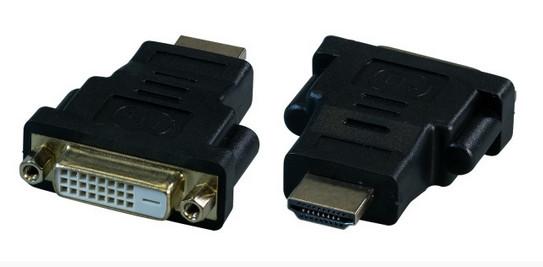 HDMI/DVI Adapter St/Bu HDMI-Stecker/DVI 24+1-Buchse für High Definition