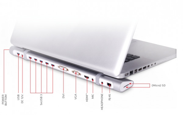 Club 3D USB 3.0 Ultra Smart Docking Station, Alugehäuse, 5x USB 3.0, HDMI, DVI, VGA+mehr