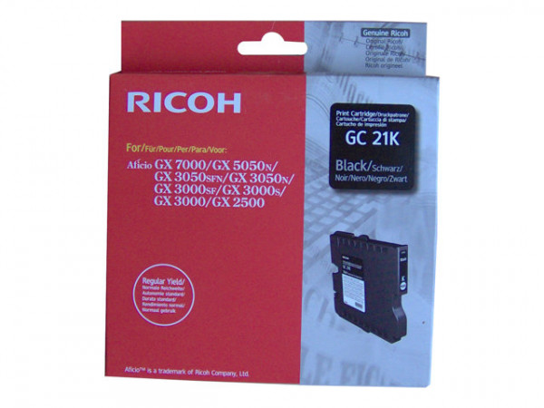 Ricoh Gel Schwarz GC 21K für GX 3050SFN 1,5k